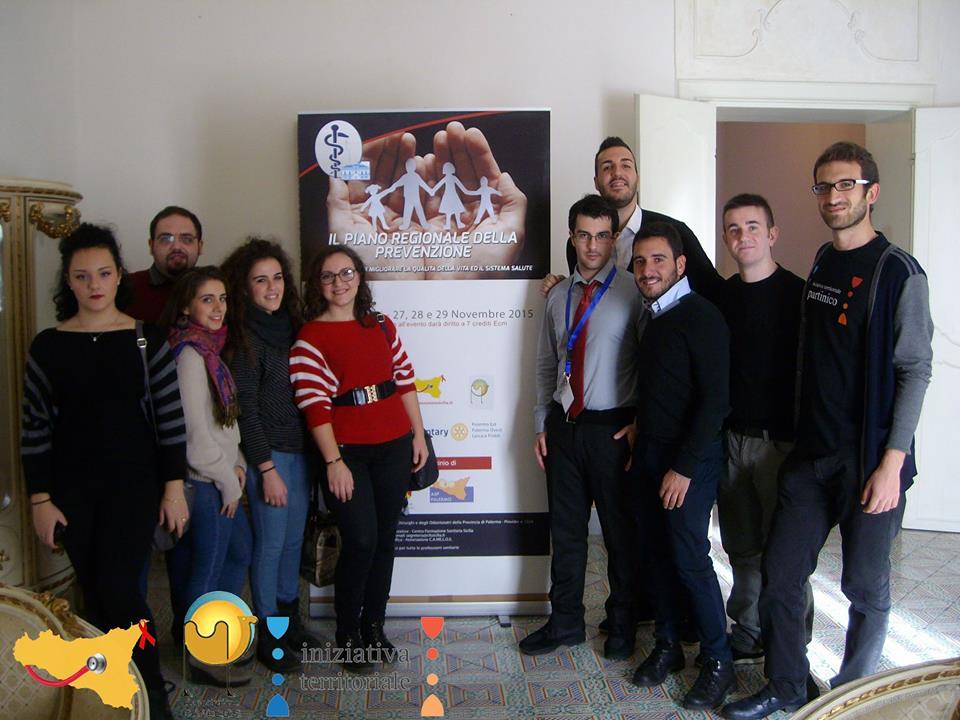 lo staff al completo degli organizzatori: Associazione Iniziativa Territoriale e Rotary di Palermo