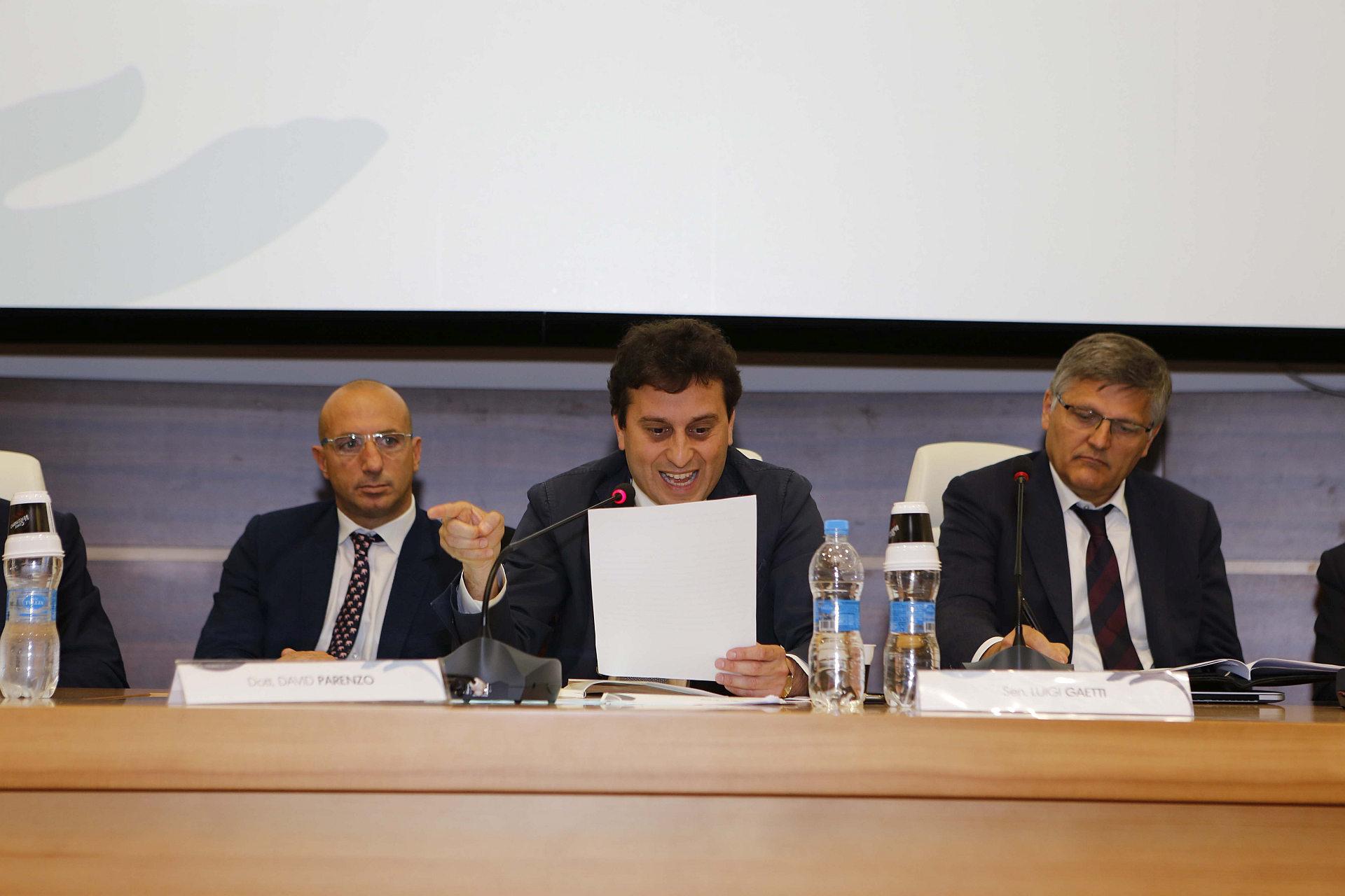Massimo Tortorella, David Parenzo e Luigi Gaetti