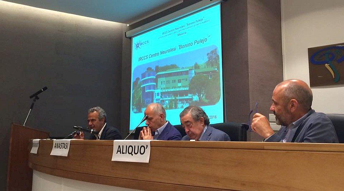 Da sinistra: Dino Alagna, Placido Bramanti, Giuseppe Pio Anastasi e Angelo Aliquò