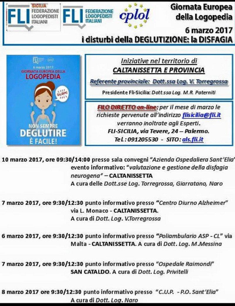 Giornata Logopedia 2017. Eventi in provincia di Caltanissetta