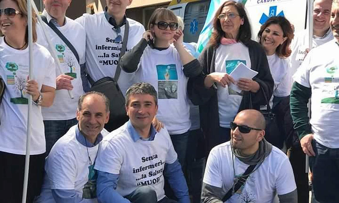 Protesta Nursind a Messina.2