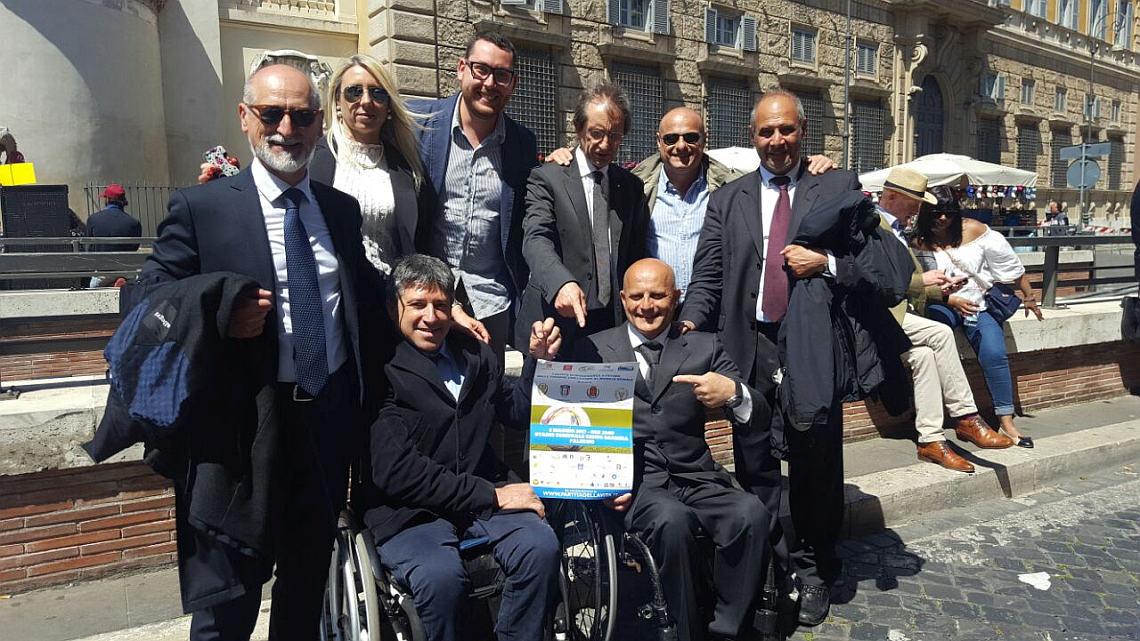 Delegazione della Partita della Vita in trasferta al Vaticano