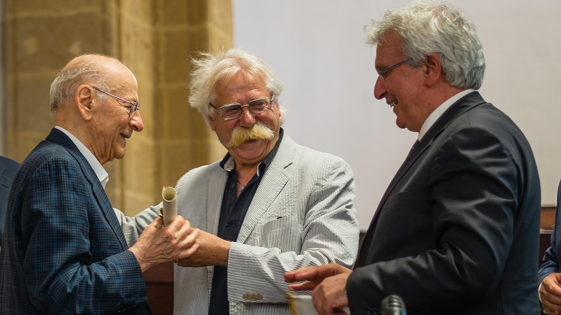 Benedetto Bianco con Nicola Cristaldi e Baldo Gucciardi