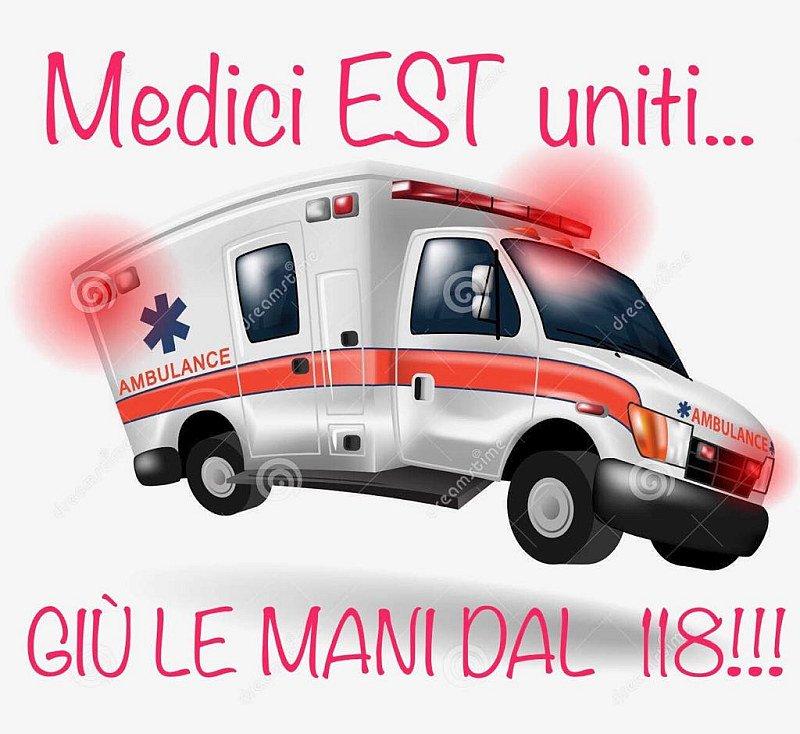 Simbolo protesta medici 118