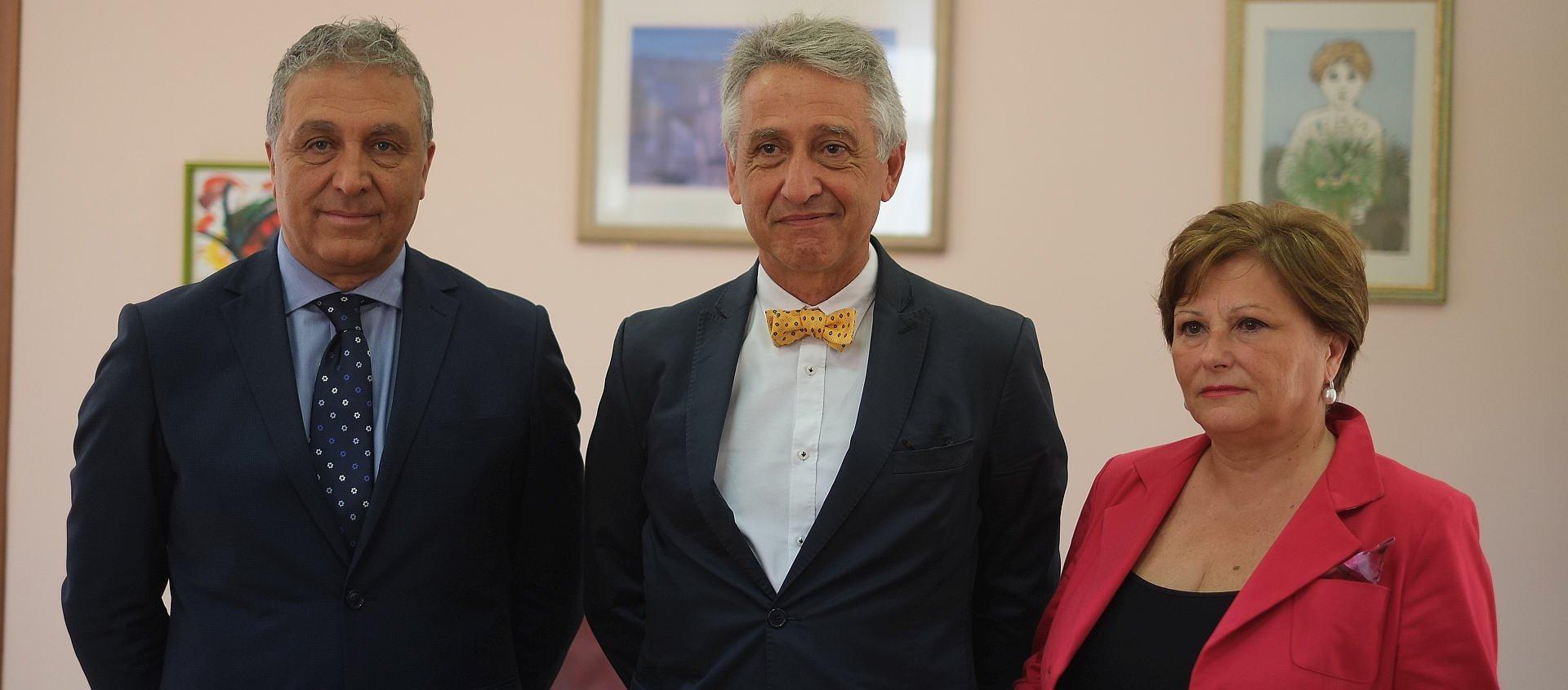 Pietro Greco, Maurizio Aricò e Nora Virga