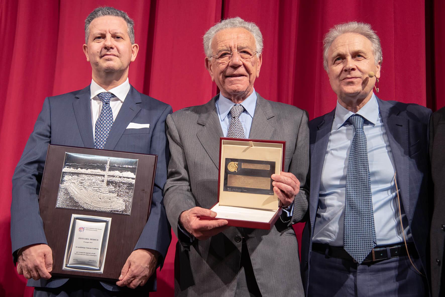 Simone Gulletta e Francesco Trimarchi con Giacomo Caudo