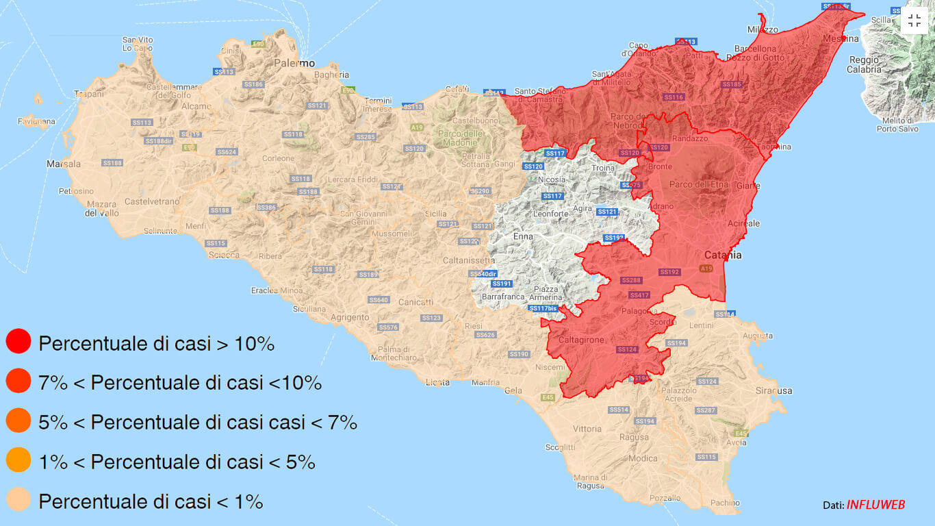 influenza in sicilia
